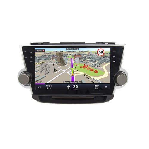Toyota Highlander 2012 Car Audio Player Gps Navigation